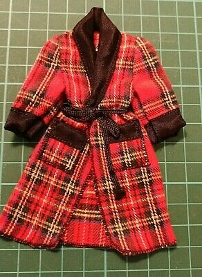 Gentlemans' Tartan Dressing Gown : Vintage Dolls House Furniture • 9.50£