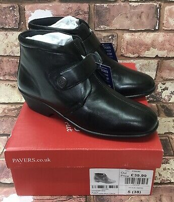 Pavers Ladies Black Ankle Boots UK Size 5 Brand New In Box  RRP £39.99 • 34.50£