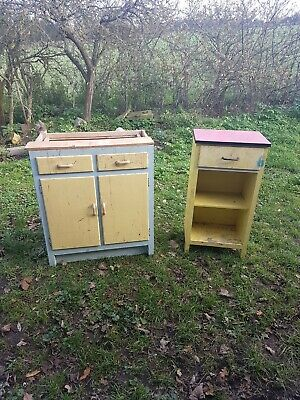 VINTAGE KITCHEN CABINET / SIDEBOARD AND SIDE UNIT 1950s / 1960s RETRO • 250£
