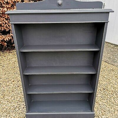 £295 • Buy Hand Painted Solid Oak Lightly Distressed Ercol Bookcase  In Black Farrow & Ball