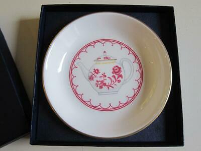 Royal Worcester Cup Of Cups Small Pin Dish Tea Bag Holder Tidy Pink Teapot • 6£