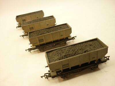 4 X DAPOL 00 Gauge BR COAL HOPPERS - GREY WEATHERED,                           O • 19.99£