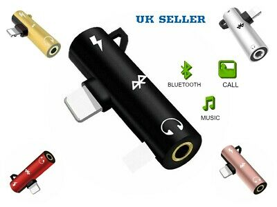 £2.99 • Buy Charger And Bluetooth Splitter For IPhone 11 X 8 7 Audio Headphone Earphone