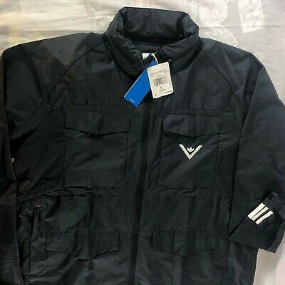 $ CDN157.69 • Buy NWT Adidas X White Mountaineering Field Jacket Size Large Zip Hooded Black $200