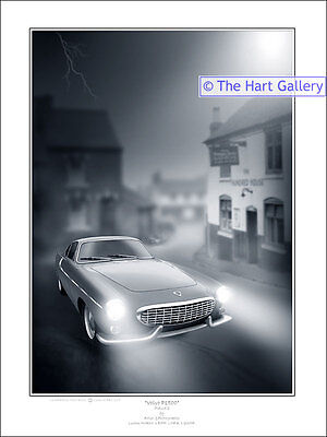 Volvo P1800 Classic Car Fantasy Art Ltd Ed Signed Print Picture The Saint • 24.99£