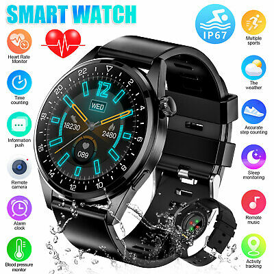 $28.98 • Buy Waterproof Smart Watch Blood Pressure Oxygen Heart Rate Monitor For Android IOS