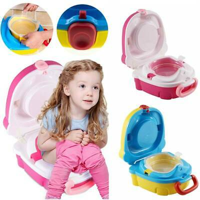 Portable Kids Toilet Seat Child Baby Toddler Training Potty Car Travel Seat UK • 8.29£