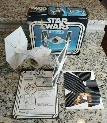 $ CDN442.91 • Buy 1977 Tie Fighter 1978 STAR WARS Vintage Original COMPLETE 1ST BOX Working WHITE
