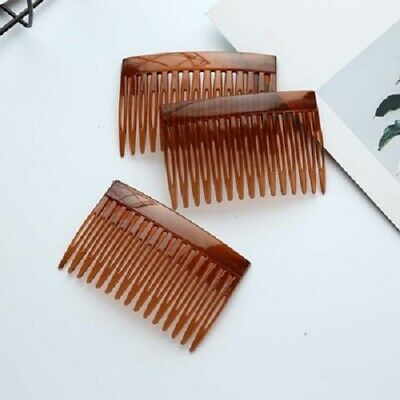 3Ps HAIR COMBS HAIR SLIDES 4 PACK OF BLACK CLEAR TORT HAIR COMB PLASTIC • 1.49£