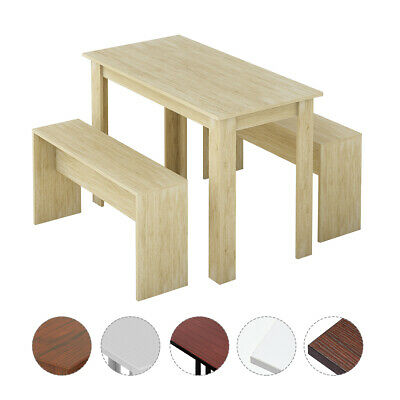 £69.99 • Buy Wooden Dining Table And Chairs Set 2 Bench Kitchen Furniture Activity Desk Kid