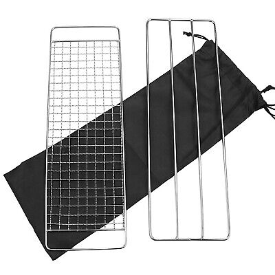 $ CDN24.42 • Buy Barbecue Grill Pot Rack BBQ Net Mesh Rack For Outdoor Camping Hiking P7J3
