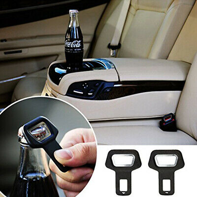 $1.92 • Buy Car Metal Safe Seat Belt Buckle Clip Insert Alarm Stopper Bottle Opener Parts