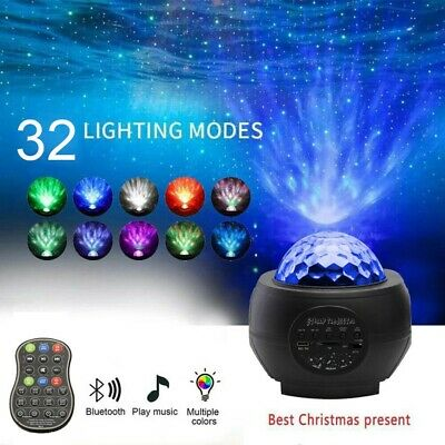 USB Starry Sky Projector Light LED Galaxy Star Night Lamp Ocean Wave Home Party • 20.55£