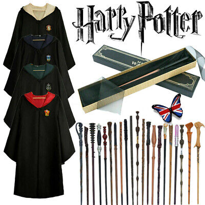 Harry Potter Cosplay Costume Gryffindor Magic Cloak Fancy Dress Dumbledore Wands • 10.99£