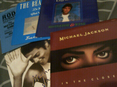 Old Skool Synth Pop Etc 7  Record Collection - Michael Jackson Etc Bundle • 3.99£
