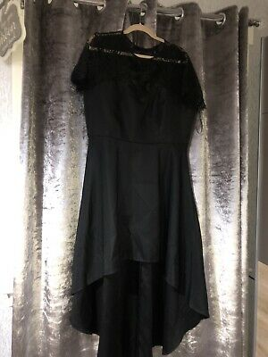 Chi Chi London Curve Size 18 High Low Black Dress Excellent Condition Worn Once • 25£