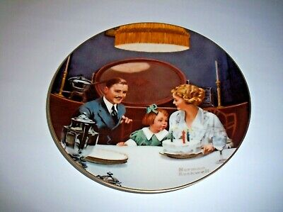 $ CDN30.62 • Buy Norman Rockwell Plate Edwin Knowles  The Birthday Wish  With Certificate, 1984