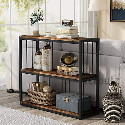 Industrial Console Table Rustic Hall Storage Stand Vintage Metal Shelving Unit • 109.90£