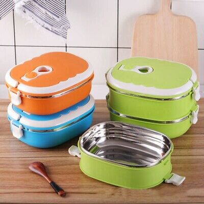 AU13.24 • Buy Food Warmer Kids School Lunch Box Thermal Insulated Food Container Box Portable