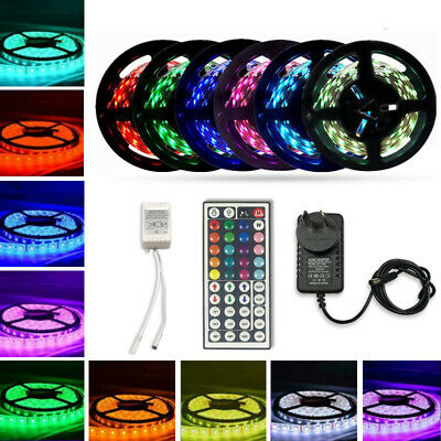 AU16.97 • Buy 5M 5050 SMD LED Strip Lights 3000K Warm White With 12V Power Supply Waterproof