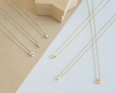 £3.59 • Buy Silver Gold Initial Alphabet Letter Women Ladies Girls Friendship Chain Necklace