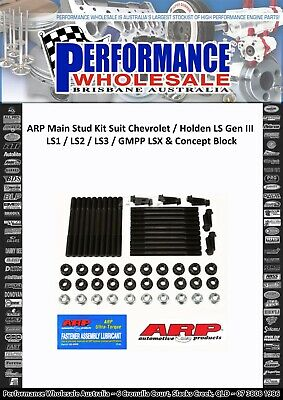AU499 • Buy Arp Ls Main Stud Kit Chev Holden Ls1 Ls2 Ls3 Lsx Concept Engine Block 234-5608