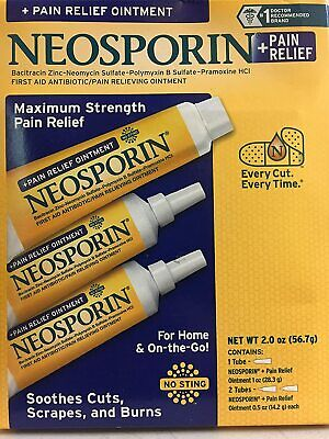 £11.87 • Buy Neosporin Pain Relief Ointment Maximum Strength 2 Oz Total