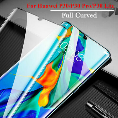 For Huawei P20 P30 Pro Lite Full Cover Curved Tempered Glass Screen Protector • 2.19£