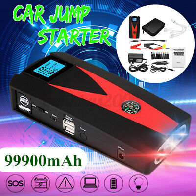 AU58.99 • Buy 99900mAh Vehicle Charger Portable Car Jump Starter Power Bank Battery Engine LCD