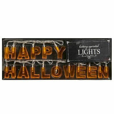 $ CDN12.26 • Buy Happy Halloween Letter LED String Rope Lights Battery Indoor Party Decor Home