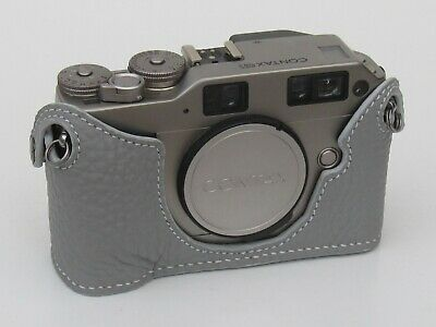 $ CDN86.41 • Buy Leather Grey Half Case For Contax G1 - BRAND NEW
