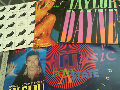 Old Skool Dance House Techno Synth Pop Etc 7  Record Collection - 5 Vinyl Bundle • 4.99£