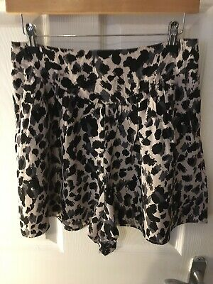 H&M Printed Shorts *UK SIZE 12* Funky Leopard Print *V GOOD CONDITION* • 0.99£