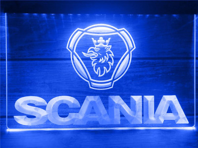 SCANIA Neon LED Display Light Sign Lorry Truck HGV Van Garage Man Cave • 16£
