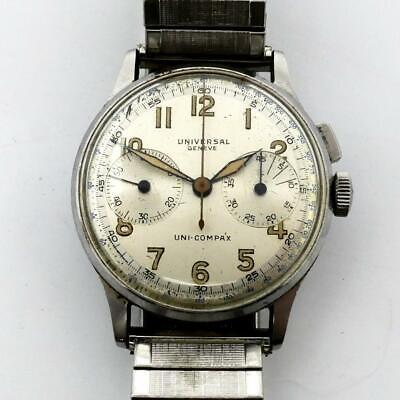 $ CDN1134.08 • Buy Vintage 1940's Universal Geneve Uni-Compax 283 Ref. 22322 Chronograph RUNNING