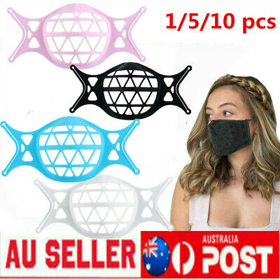 AU18.99 • Buy 3D Face Mask Bracket Mouth Separate Inner Stand Soft Silicone Holder Frame LOT