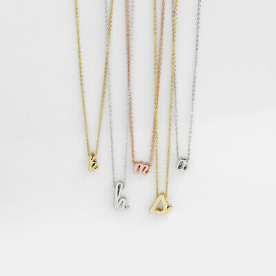 £3.59 • Buy Silver Rose Gold Initial Alphabet Letter Women Ladies Friendship Chain Necklace