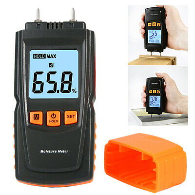 Digital LCD Damp Moisture Meter Detector Tester Wood Timber Plaster Sensor • 10.88£