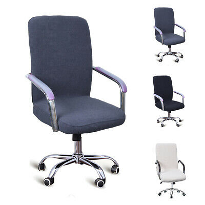 AU24.59 • Buy Check Pattern Chair Cover Office Waterproof Computer Easy To Clean Dust-proof