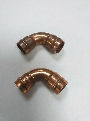 £4 • Buy Yorkshire Solder Swept Bend/elbow 15mm Copper Pipe / Bar Tap Fitting X 2