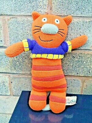 LATITUDE ENFANT - KNITTED SACHA THE CAT SOFT TOY - Wooly Family - 9.5  • 9.99£