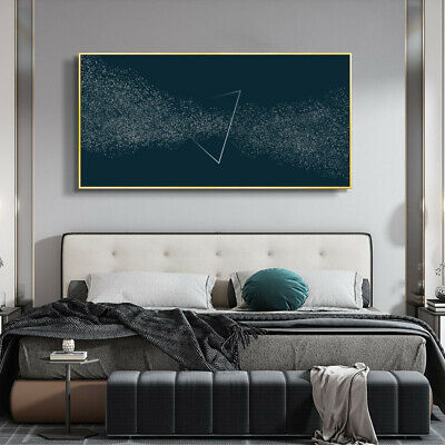 Abstract Modern Black&White Painting White Point Canvas Wall Art Picture Print • 15.59£