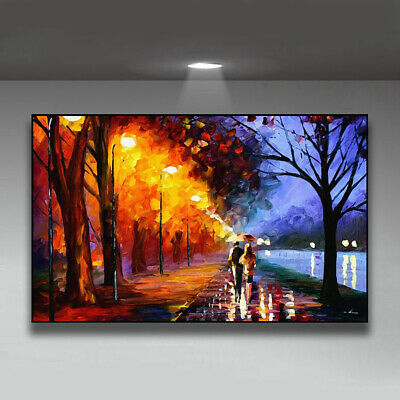 Love Under Umbrella Series-Lakeside Painting Canvas Wall Art Picture Print • 10.79£