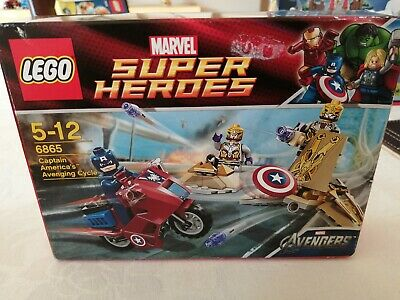 Lego Superheroes 6865 Captain America Avenging Cycle New And Sealed UK Bid Only  • 22£