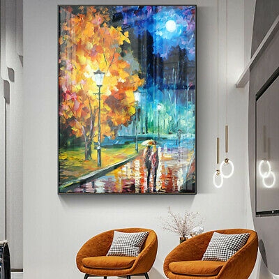 Under Umbrella Love Series-Park Painting Canvas Wall Art Picture Print Decor • 10.79£