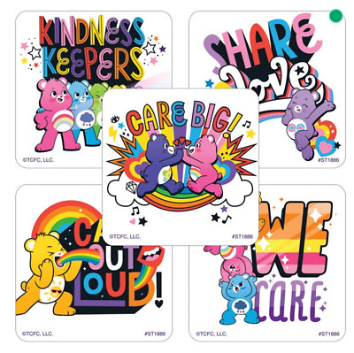 £2.42 • Buy 25 Care Bears Kindness Keepers Stickers, 2.5  X 2.5  Each, Party Favors