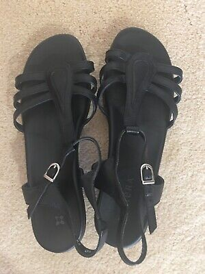 AU32 • Buy Ziera Black Leather Sandals Size 40 EU Size 9