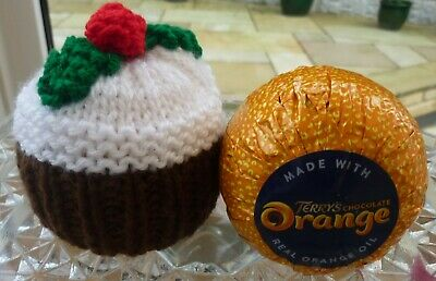 Hand Knitted Christmas Pudding Chocolate Orange Cover • 2£
