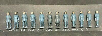 VINTAGE JOHILLCO RAF LEAD FIGURES SET - CARDED DISPLAY Circa 1939 - JOHN HILL CO • 50£