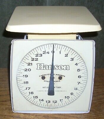 Vintage White Hanson 25 Lb. Utility Scale Kitchen Accurate! Made In USA  • 14.52£